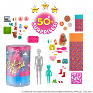 Set papusa Barbie Slumber Party cu 50 de surprize Color Reveal