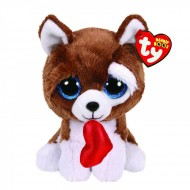 Catel de plus cu inimioara Smootches Beanie Boo's 15 cm