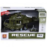 Elicopter verde cu sunete si lumini Magic Toys