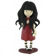 Figurina Gorjuss cu rochita bordeaux Gorjuss
