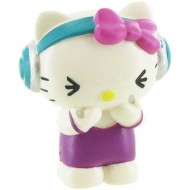 Figurina Hello Kitty cu casti