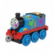 Locomotiva Paint Splat Thomas Trenulet din Metal Thomas&Friends Push Along