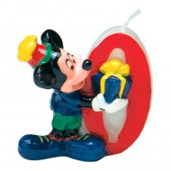 Lumanare tort cifra 0 Mickey Mouse