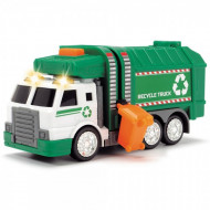 Masina de gunoi cu sunete si lumini Dickie Toys 15 cm