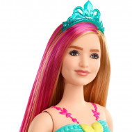 Papusa Barbie blonda cu suvita roz Barbie Dreamtopia