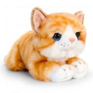 Pisica de plus cu dungi portocalii 32 cm
