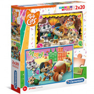 Puzzle 44 Cats Clementoni 2x20 piese