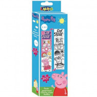Puzzle de colorat Cool to be kind Purcelusa Peppa 24 piese