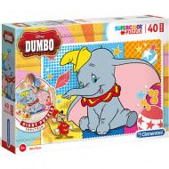 Puzzle de podea Dumbo 40 piese