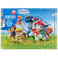 Puzzle din lemn All Paws on Deck Patrula Catelusilor 18 piese