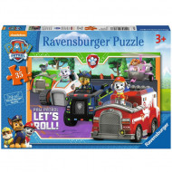 Puzzle Lett's Roll! Patrula Catelusilor Ravensburger 35 piese