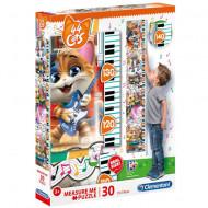Puzzle Measure Me 44 Cats Clementoni 30 piese