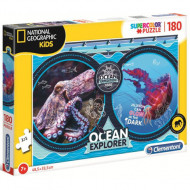 Puzzle Ocean Explorer National Geographic Kids Clementoni 180 piese