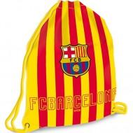 Sac de umar cu snur FC Barcelona galben rosu