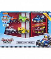 Set 6 masinute metalice Race Gift Pack Ready Race Rescue Patrula Catelusilor
