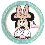 Set 8 farfurii de unica folosinta 20 cm Minnie Mouse
