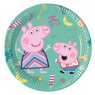 Set 8 farfurii de unica folosinta 20 cm Peppa Pig