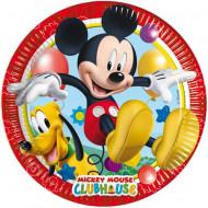 Set 8 farfurii de unica folosinta 23 cm Clubul lui Mickey Mouse