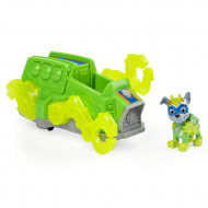 Set de joaca Rocky Deluxe Vehicle Patrula Catelusilor Mighty Pups Charged Up