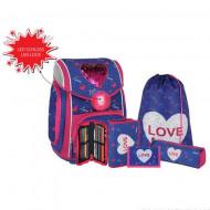 Set ghiozdan ergonomic Heart Love echipat
