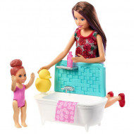 Set papusa Barbie cu bebelus si cada Barbie Skipper Babysitters
