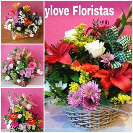 Cestas de flor variada talla XL