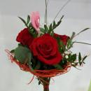 Ramo de 4 Rosas en estructura