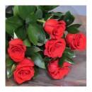 Ramo con 6 rosas Rojas tallo largo