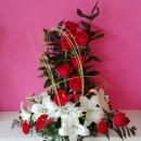 Centro Rosas y lilium