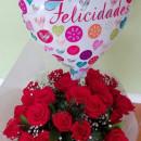 Ramo con 24 Rosas +Globo