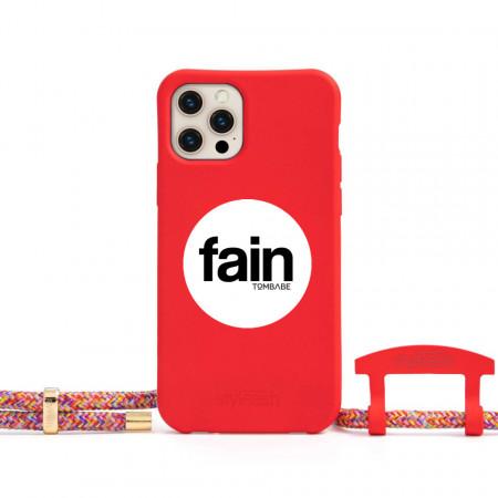 husă telefon cu șnur Rainbow Red