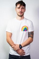 """tricou unisex """"curcubeu"""" - seria de artist Levimic"""