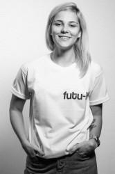 "tricou unisex ""futu-i"" alb"