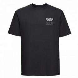 """tricou unisex """"promit să fiu lângă tine"""" negru"""
