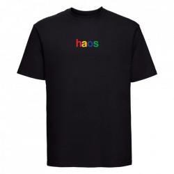 "tricou unisex ""haos"" negru"