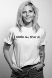 "tricou unisex ""decât nu, doar da"""