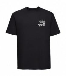 "tricou unisex ""te îmbraci și cobori"" negru"