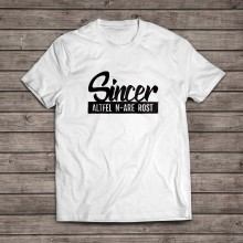 "Tricou ""Sincer"" [white]"
