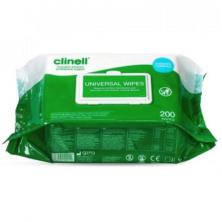 Lavete dezinfectante CLINELL 200 buc / pach