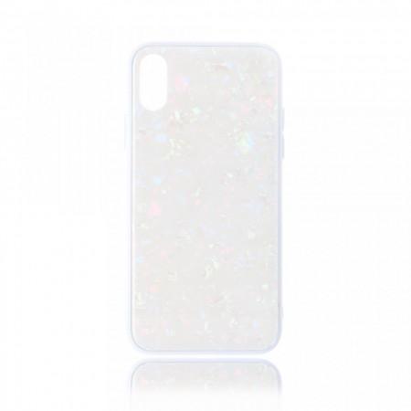 Husa iPhone XS Max High Pro Glass Shield White