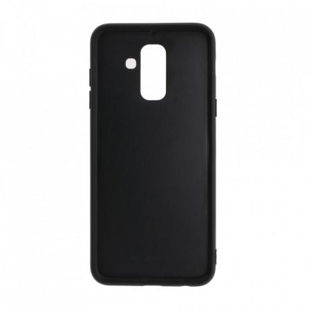 Husa pentru Samsung Galaxy A6 PLUS (2018) - Husa Pro Shield Glass Rosu cu Efect Gradient