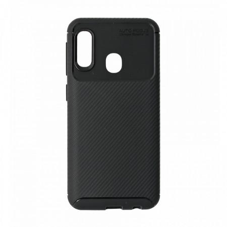 Husa Samsung Galaxy A20E flexibila din silicon, negru A20E-M1-V2