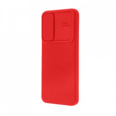 Husa Samsung Galaxy A50 | A50s | A30s - Silicon Antisoc cu Protectie Glisanta Pentru Camera - Rosu