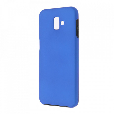 Husa Samsung Galaxy A6 PLUS - 360 Fully cu Spate din Policarbonat si Folie din Silicon - Blue