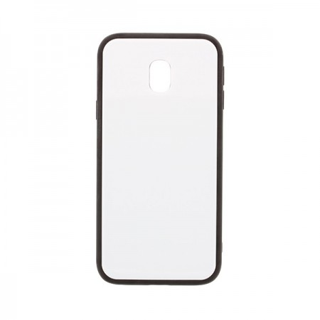 Husa Samsung Galaxy J3 (2017) Glass Antisoc Alba Cu Margini Negre