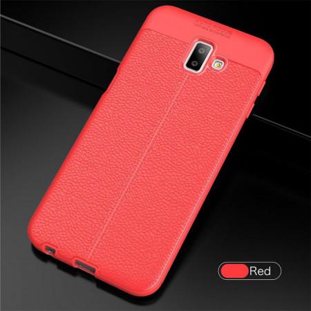 Husa Samsung Galaxy J6 PLUS Rosie din TPU cu Design de Tip Piele
