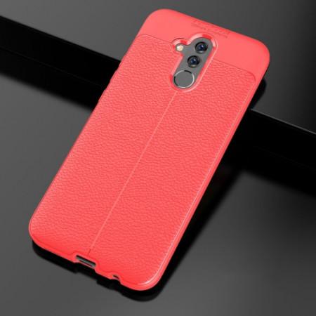 Husa Huawei MATE 20 LITE Rosie din TPU cu Design de Tip Piele