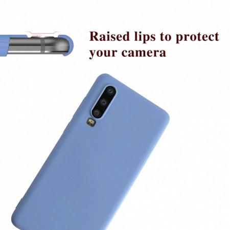 Husa Huawei Mate P30 Albastra Deschis din Silicon Premium Ultra Soft