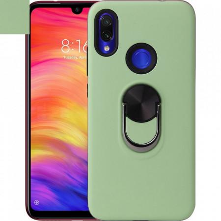 Husa Huawei Y6 | Y6 PRO (2019) Verde Din Policarbonat Premium cu Inel Rotativ