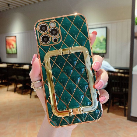 Husa pentru Apple iPhone 12 PRO MAX, cu protectie ridicata, Fashion, tip geantuta, silicon, verde IP12PROMAX-005